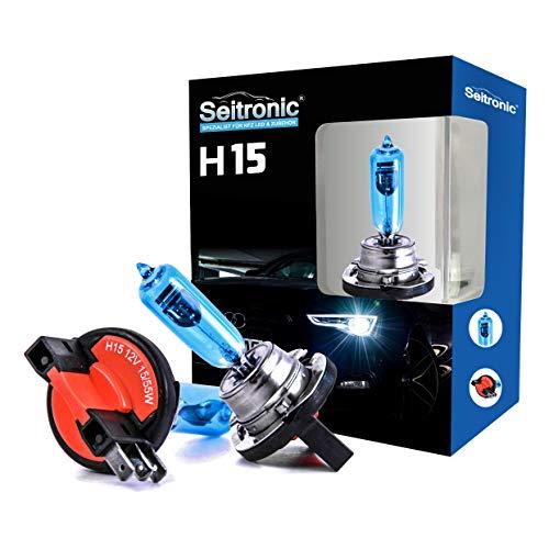 Xenon Style Lampen Halogen-Scheinwerferlampe, Xenon Look Lampen Weiss, Xenon Style Birnen Brenner, Xenon Blue HID Lampen - Halogen Xenon Lampen (H15 55Watt)