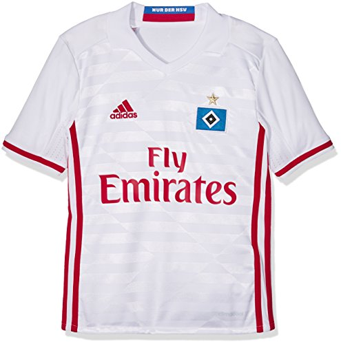 adidas Kinder Hamburger SV Replica Trikot, White/Scarlet, 176