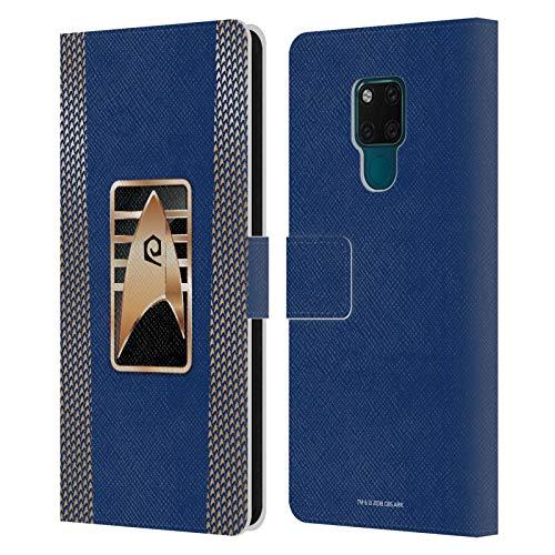 Head Case Designs sous Licence Officielle Star Trek Discovery Insigne De Cadet Uniformes Coque en Cuir à Portefeuille Compatible avec Huawei Mate 20 X 5G