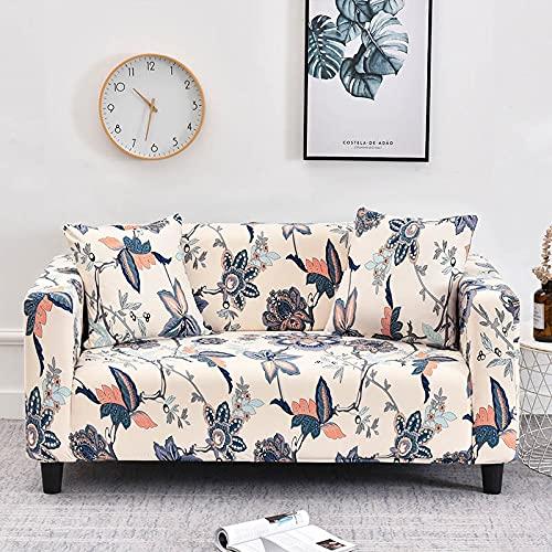 WXQY Fundas con Estampado Floral Funda de sofá elástica elástica Funda de sofá con protección para Mascotas Funda de sofá con Todo Incluido en Forma de L A34 4 plazas
