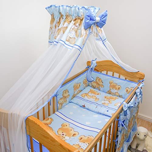 Juego de cama para cuna de 10 piezas con protección regular (para cuna de 140 x 70 cm, patrón 26)
