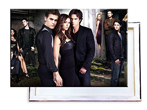 Unified Distribution The Vampire Diaries - 60x40 cm - Bilder & Kunstdrucke fertig auf Leinwand aufgespannt und in erstklassiger Druckqualität