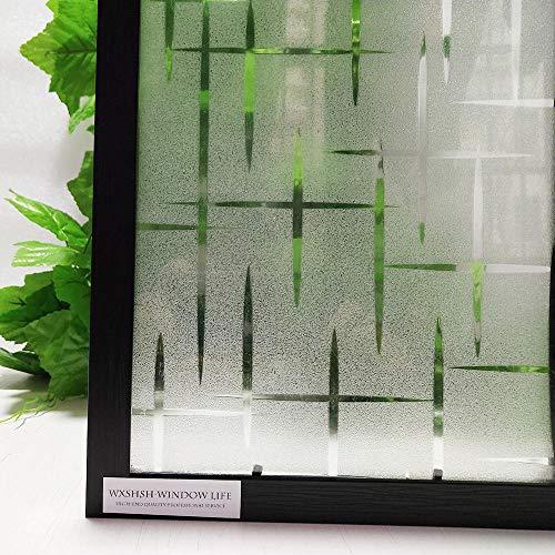 KUNHAN raamsticker 3D privacy waterdichte statisch klevende raamfolie besturing vinyl decoratieve folie voor glas anti-UV sticker 75 * 200 cm