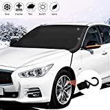 ADORIC Car Windshield Snow Cover, Windshield Ice Cover with Mirror Covers Windproof Magnetic Sunshade Protector for Ice/Snow/Frost/UV Fit for Car/Truck/SUV-85x50