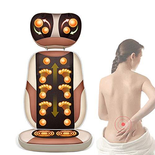 GUOJIN Massagesessel Shiatsu elektrischer Massagestuhl mit Automatikprogramme Knetmassage, Klopfmassage, Rollenmassage, platzsparend Massagesitz für Zuhause und Büro