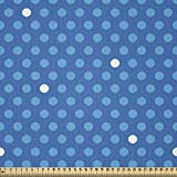 ABAKUHAUS Blau Microfaser Stoff als Meterware, Mutige
