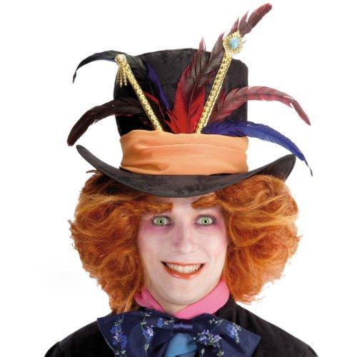 Cappello cappellaio matto con piume Alice in wonderland