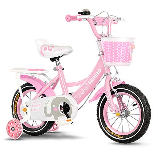 Bicicletas para Niños con Ruedas Y Canasta Cochecito De Bebé Andador Deslizante Asiento Ajustable Y Manija Empujar Bicicleta Scooter Mejor Regalo De Cumpleaños para Niñas