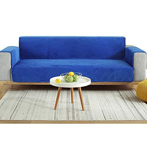 PLUS PO Fundas de silla reclinable Fundas de sofá fundas de silla para sillones Funda de sofá Klippan Funda de sofá de terciopelo aplastado Fundas de sofá 116 x 190, azul