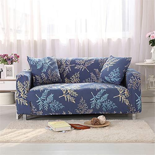 MRCOCO Funda para Sofá Elasticas De 1 2 3 4 Plazas Impresión Floral Universal Funda Cubre Sofas Ajustables, Antideslizante Protector Cubierta De Muebles con Cuerda De Fijación,Style 5,2seat