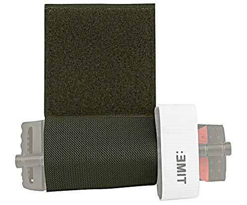 KRYDEX Elastic Tourniquet Holder with Hook & Loop for Tactical Vest Chest Rig Competition Belt (Ranger Green)