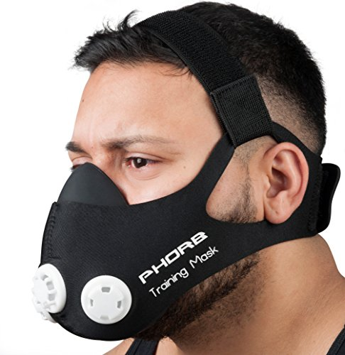 Phorb Training Mask schwarz Größe m Atemmaske für Crossfit Trainingsmaske steigert Ausdauer Fitness Kondition ähnelt Höhentraining - 2