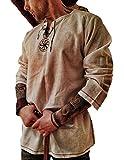 Babao Hombres Disfraz De Túnica Medieval Camisa De Halloween Tops Renaissance De Manga Larga