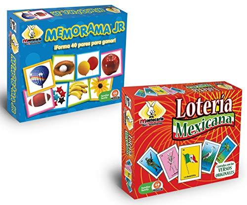 Novedades Montecarlo Memorama Jr. con Lotería Mexicana