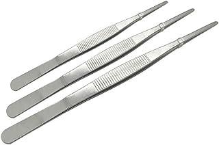 Adecco LLC pinzas de acero inoxidable pinzas con puntas de sierra para alimentos mar y quirúrgico 8