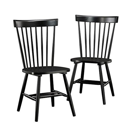 Sauder New Grange Spindle Back Chairs, Black finish