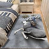 Alfombra Pelo Corto Salon Negro Alfombras Modernas Super Suaves De La Pelusa Elk pattern, moderno, minimalista, ligero, de lujo, para sala de estar, alfombra, alfombras para el piso del dormitorio, se