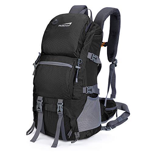 Promove 48L Wandern Rucksack Wasserdichte Trekking Reise Daypack Sportrucksack für Klettern Camping Bergsteigen Angeln Radfahren Skilaufen