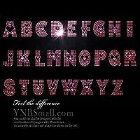 【アルファベット】 スパンコールモチーフ 【U】 (ピンク&ハート) アイロン接着可 Tシャツのポイントにピッタリ 小さめサイズ ご希望の文字を色選択よりお選びください