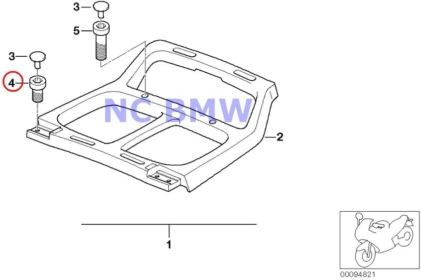 2 X Max 64% OFF BMW Genuine Motorcycle Screw R1 Fillister-Head Easy-to-use R1100RS M6X35
