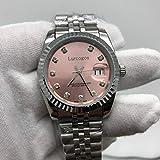 WAVFCSE Rosa Zifferblatt AAA Damenuhr 36mm Größe automatische Datumseinstellung Faltschließe Top-Qualität Uhren