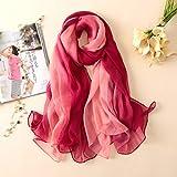 Bufanda de verano para mujer, bufandas de seda de Color caramelo de crepón suave a la moda, chales y pashmina, gorras para mujer, pañuelos grandes para mujer