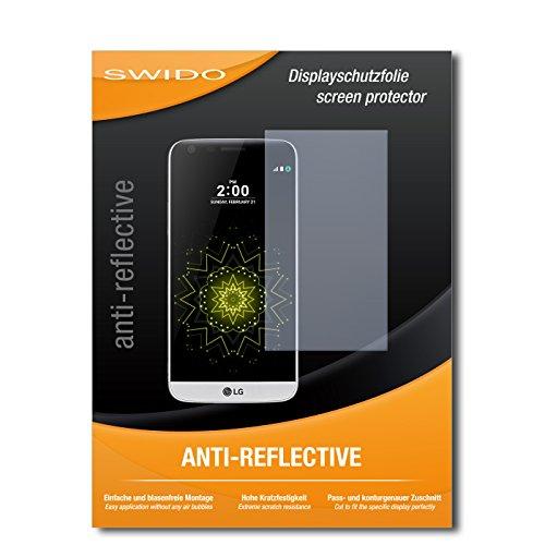 SWIDO Schutzfolie für LG G5 [2 Stück] Anti-Reflex MATT Entspiegelnd, Hoher Härtegrad, Schutz vor Kratzer/Displayschutz, Displayschutzfolie, Panzerglas-Folie