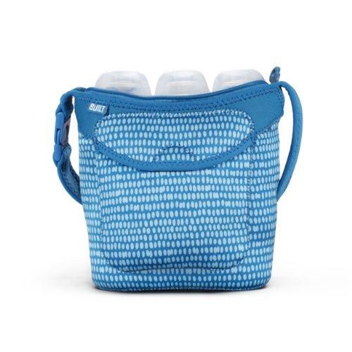 Built NY Sac de transport pour 3 bouteilles dribbler Dots (Bleu)