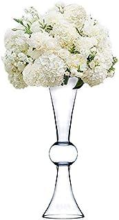 "CYS EXCEL Clear Reversible Latour Trumpet Glass Vase/Holder. Open: 6"". Height: 24"". Base: 6"". Wholesale Lot (4 Pieces) VTV2124"