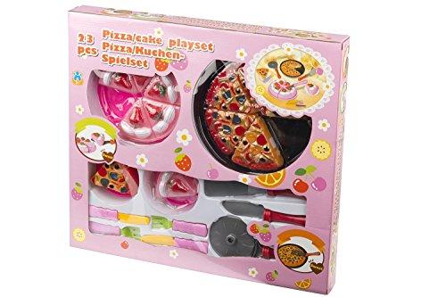 23 pièces Pizza Kit de jeu Eddy Toys Play Set à pizza enfants Cuisine, magasin