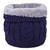 Invierno Bufanda de Doble Capa de Forro Polar Suave Forrado de Punto Grueso cuello Cálido Calentador Círculo Bufanda a Prueba de Viento