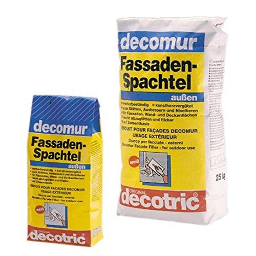 decomur Fassaden Nivellier Spachtel für Innen und Außen 25kg