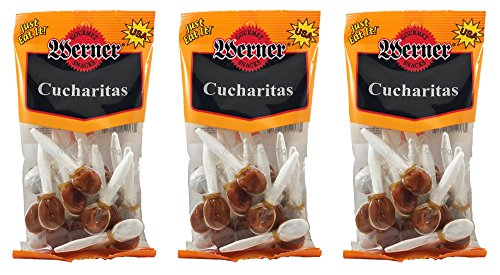 Cucharitas Mexican Tamarind Candy Mini Sucker Spoons 2.5 Ounce Bag (Pack of 3)