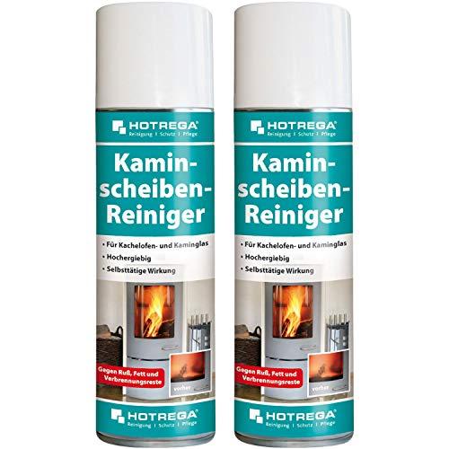 2 x HOTREGA Kaminscheiben-Reiniger 300ml Spraydose