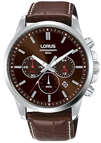 Lorus Sport Man Reloj para Hombre Analógico de Cuarzo con Brazalete de Piel de Vaca RT315JX9