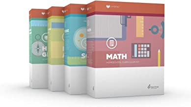 New Lifepac Grade 5 AOP 4-Subject Box Set (Math, Language, Science & History / Geography, Alpha Omega, 5th GRADE, HomeSchooling CURRICULUM, New Life Pac [Paperback]