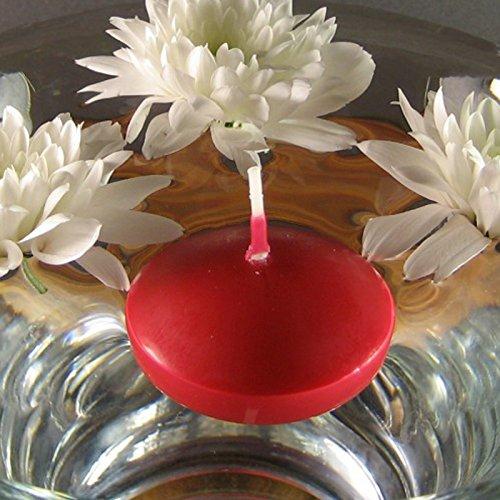 Bolsius - Vela Flotante Decorativa, Cera, Rojo, 3,5 cm de Altura, 4,5 cm de diámetro, 10 Unidades