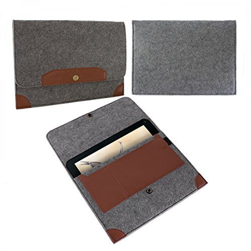 eFabrik Sleeve für Blaupunkt Endeavour 1001 DVBT (10,1 ') Tasche Hülle Schutz Hülle Cover Zubehör Filz Grau