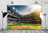 新しい7x5ft野球背景ブートボールスタジアム写真撮影の背景誕生日パーティーの装飾ゲーム写真背景小道具