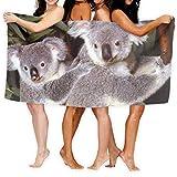 qinzuisp Pool Towel Baby Koala Bear Cub con Madre Playa Personalizada 80X130Cm Hermosas Toallas De Baño Únicas Sábana De Baño Baño Hotel Toalla De Playa Viaje Piscina Ultra Suave Unisex Sec