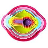 Set De Utensilios De Cocina Bowl Rainbow Bowl De 8 Piezas Vaso Medidor Cuchara Dosificadora Set De Utensilios De Cocina Fácil De Limpiar Base Plana Y Estable Tazón Anidado Ahorra Espacio