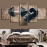 5 Stück Modern Home Decor Hantel 3D HD Drucke Leinwand Büro Wandkunst Modular Für Hintergrund...