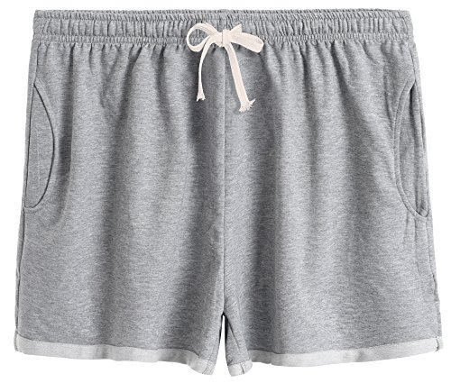 Latuza Women's Cotton Stretchy Lounge Sweat Shorts 2X Plus Gray2