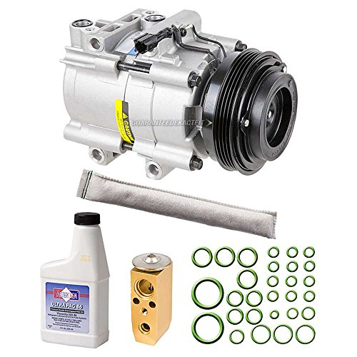 AC Compressor & A/C Kit For Kia Sorento 2003 2004 2005 2006 - Includes Drier Filter, Expansion Valve, PAG Oil & O-Rings - BuyAutoParts 60-80362RK New