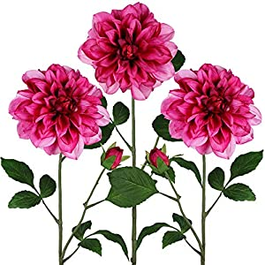 Winlyn Dahlia Flower Floral Stem for Arrangements Centerpieces Bouquets