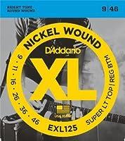 D'Addario EXL125 Super Light Top/Heavy Bottom (09-46) ダダリオ エレキギター弦 ニッケル EXL-125 【国内正規品】