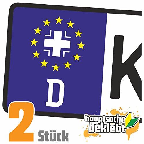 Bundeswehr Kreuz - Eisernes Kreuz Kennzeichen Aufkleber Sticker Nummernschild - IN 15 FARBEN