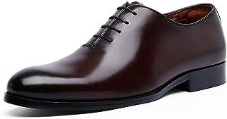 Kirabon Zapatos de Hombre Zapatos de Vestir de Negocios Zapatos de Suela Exterior de Encaje Resistente al Desgaste Zapatos cómodos (Color : Marrón, Size : 39)