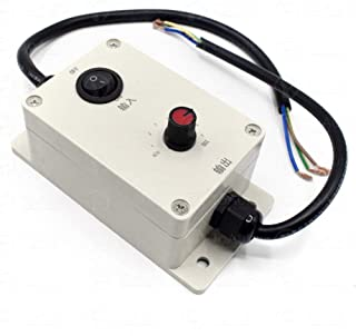 AC Motor Speed Controller 110V/220V Motor Governor for Concrete Vibrator Vibration Motor (Speed Controller with Switch)