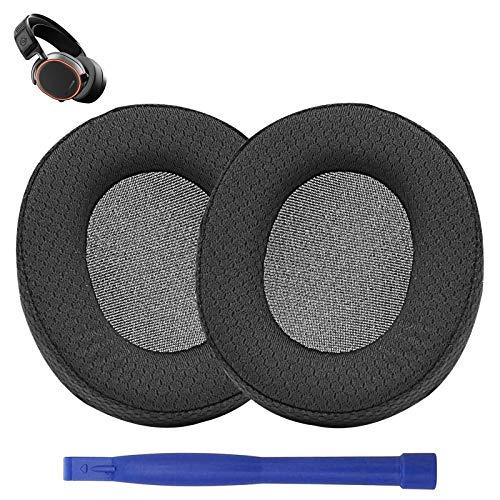 Almohadillas de repuesto para auriculares Arctis Pro 7, 5 y 3 para videojuegos SteelSeries Arctis Pro 7, 5 y 3 (tejido de malla transpirable)
